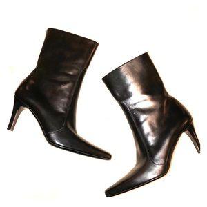 Cole Haan Heeled Point Mid Calf Zip Boot Boots 7.5